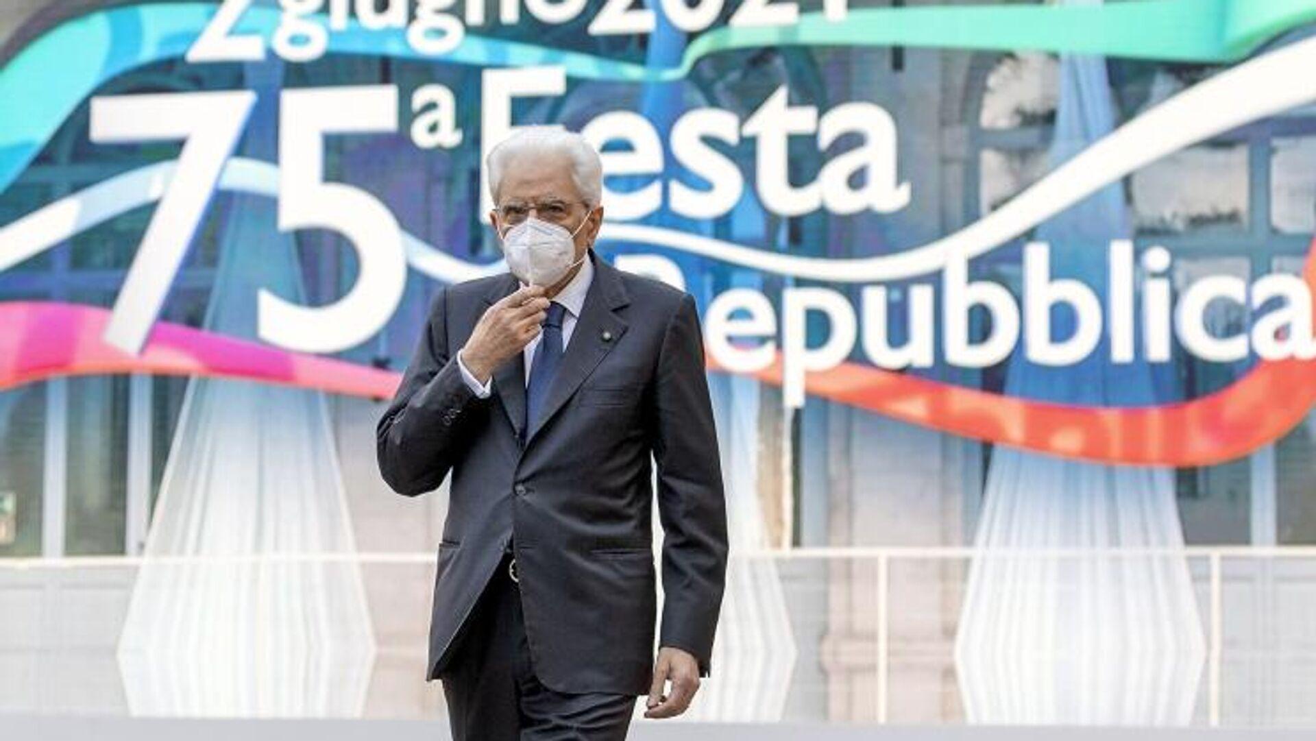 Presidente della Repubblica Sergio Mattarella nel suo intervento alla cerimonia della Festa nazionale della Repubblica - Sputnik Italia, 1920, 17.08.2021