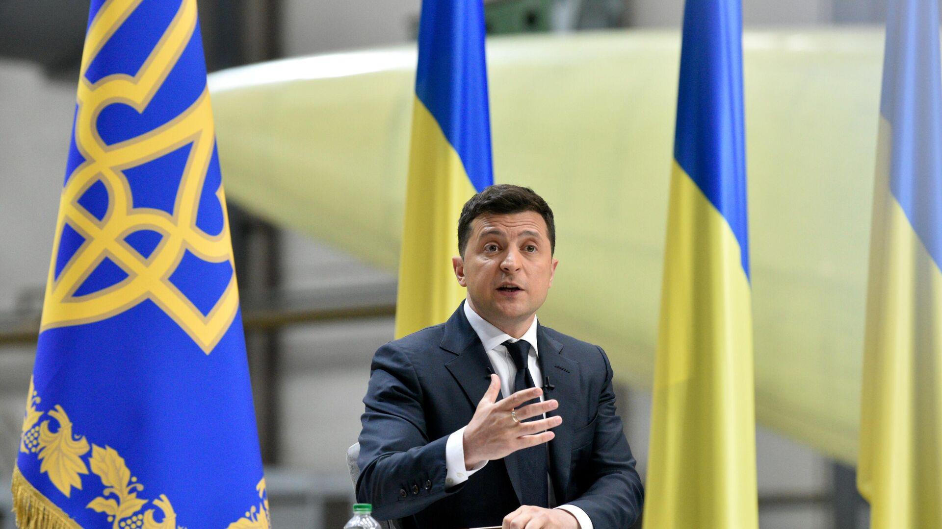 Il presidente ucraino Zelensky - Sputnik Italia, 1920, 14.06.2021