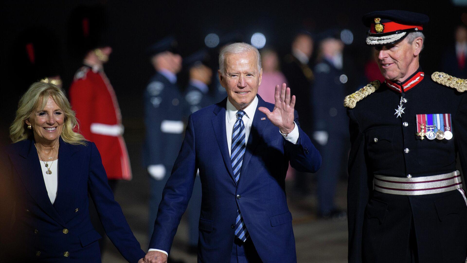 L'arrivo di Joe Biden e della First Lady Jill Biden al G7 della Cornovaglia - Sputnik Italia, 1920, 13.06.2021