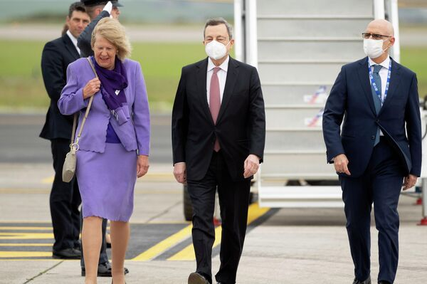 L'arrivo del premier Draghi al G7 in Cornovaglia - Sputnik Italia