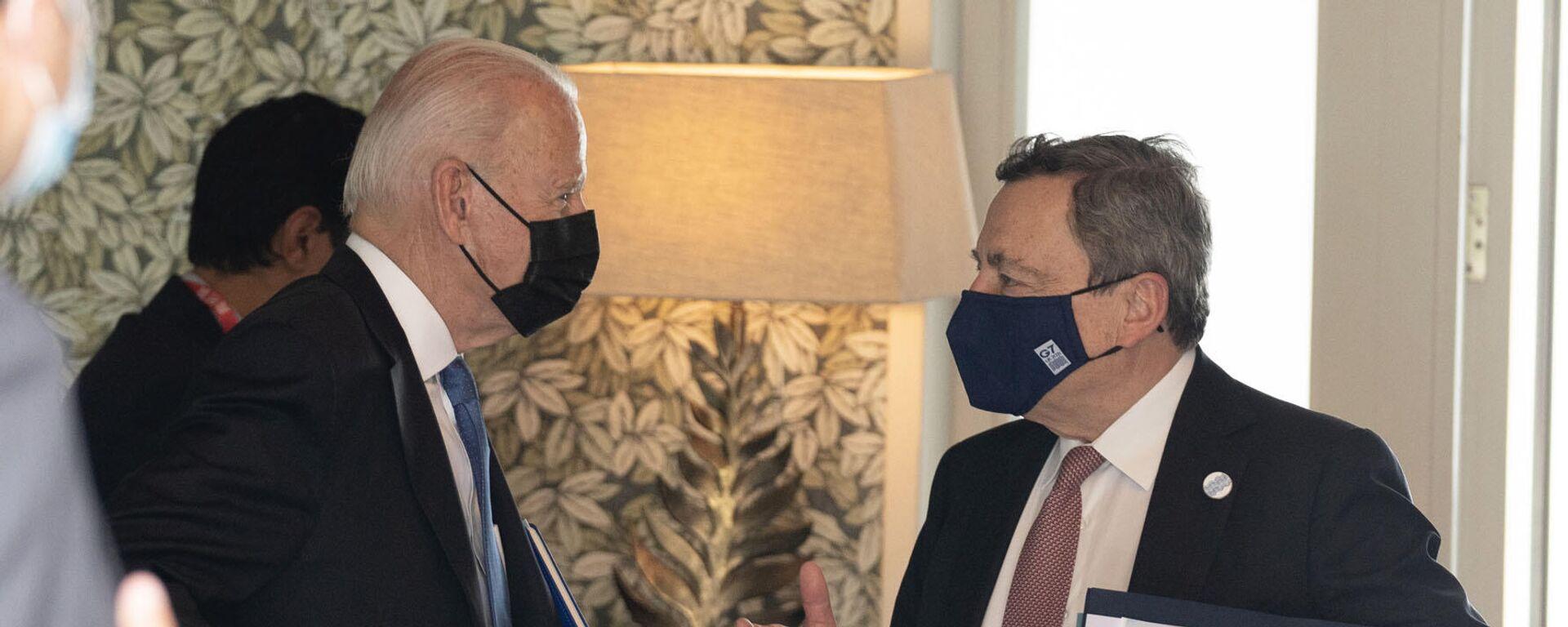 Biden e Draghi - Sputnik Italia, 1920, 21.08.2021