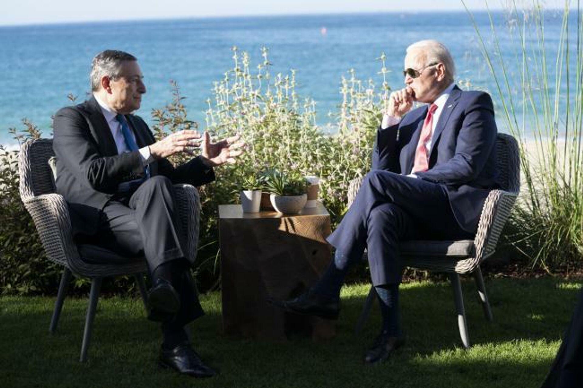 Incontro Draghi-Biden - Sputnik Italia, 1920, 13.06.2021
