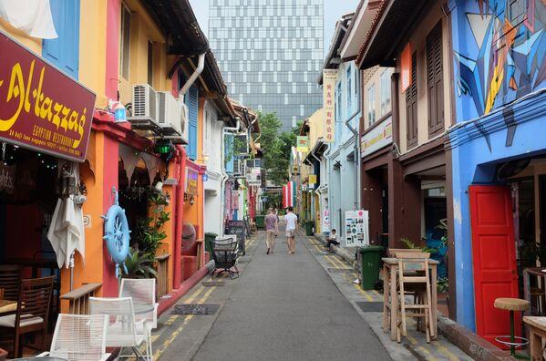La via Haji Lane a Singapore. - Sputnik Italia