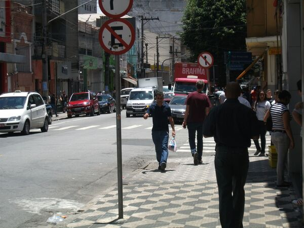 La strada Rua Três Rios a San Paolo, Brasile. - Sputnik Italia