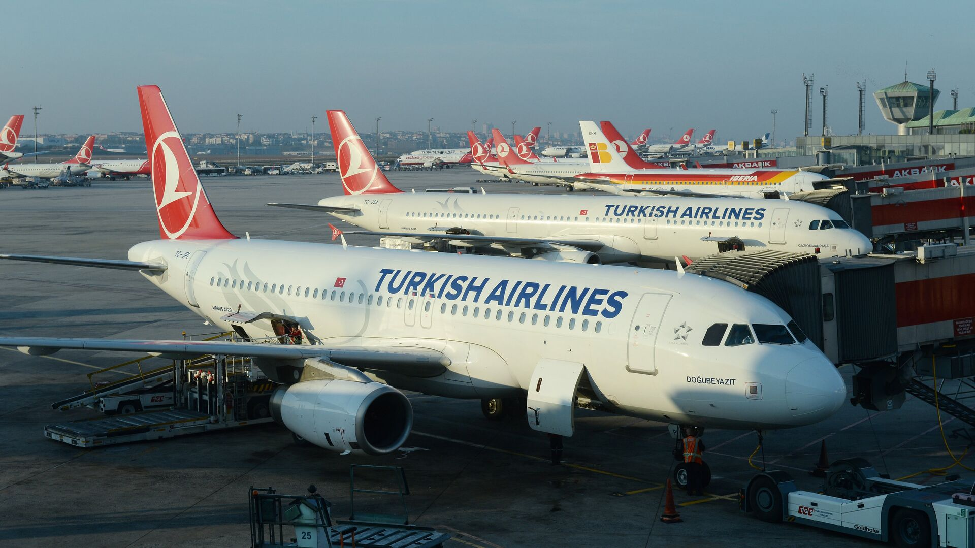 Aerei della compagnia Turkish Airlines nell'aeroporto Ataturk di Istanbul (foto d'archivio) - Sputnik Italia, 1920, 19.06.2021