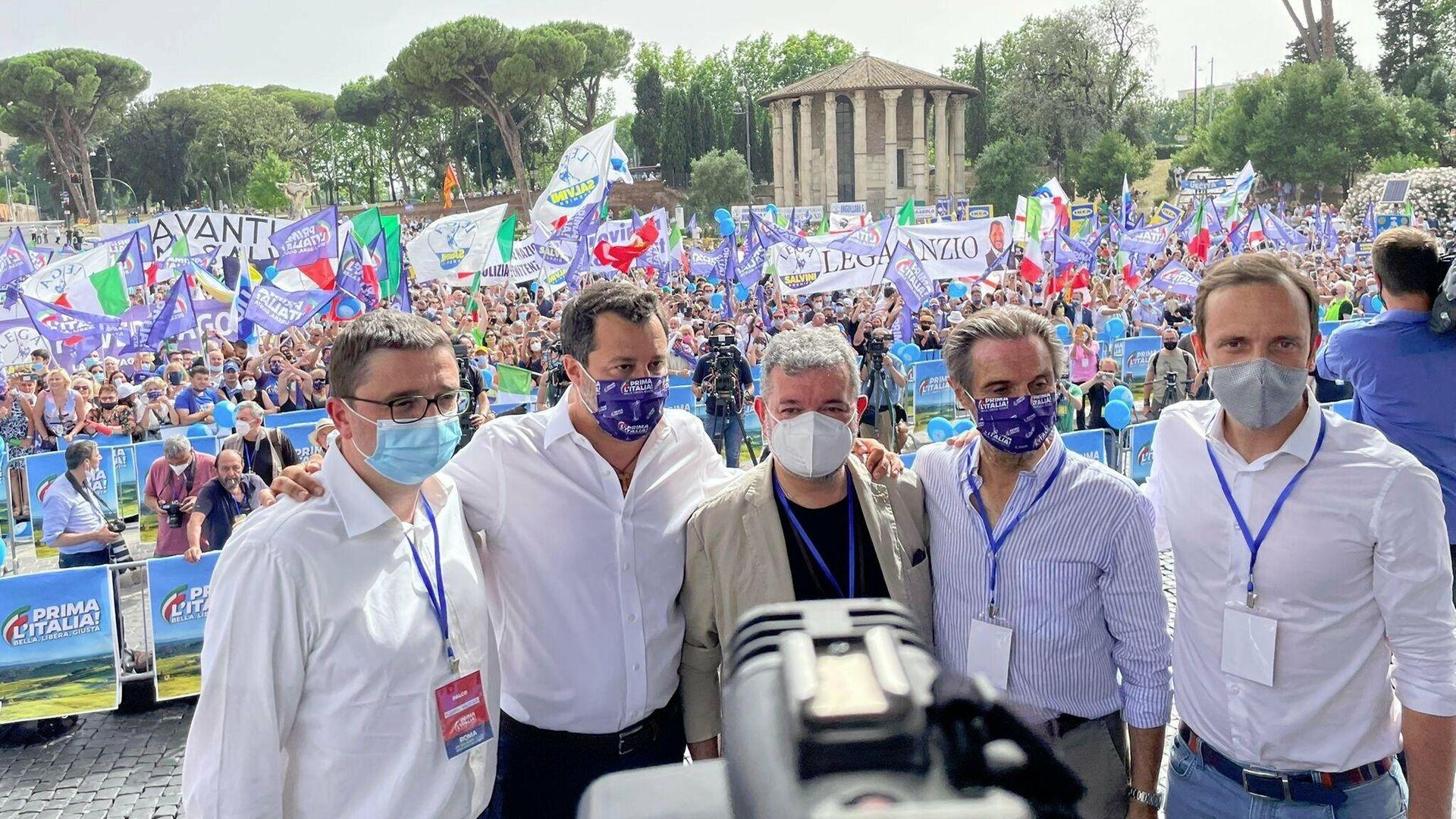 Matteo Salvini e i governatori della Lega - Sputnik Italia, 1920, 19.06.2021