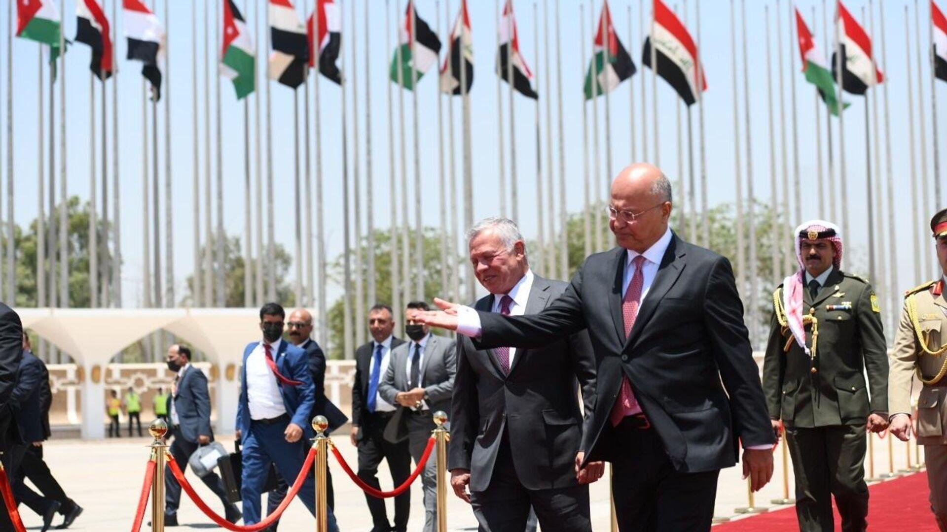 Il presidente iraqeno Salih accoglie il re di Giordania Abdullah - Sputnik Italia, 1920, 27.06.2021