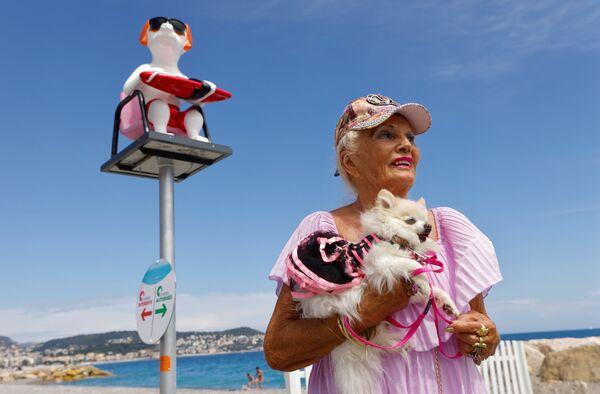 Il 23 giugno 2021 è stata inaugurata a Nizza una nuova spiaggia destinata ai cani: si trova di fronte al fabbricato blu che ospita l'ospedale infantile Lenval. - Sputnik Italia