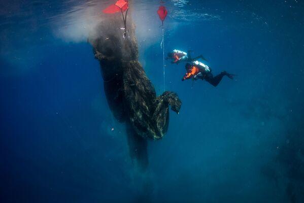 """I subacquei si immergono vicino alle """"rovine"""" dell'antico allevamento ittico di Itaca. - Sputnik Italia"""