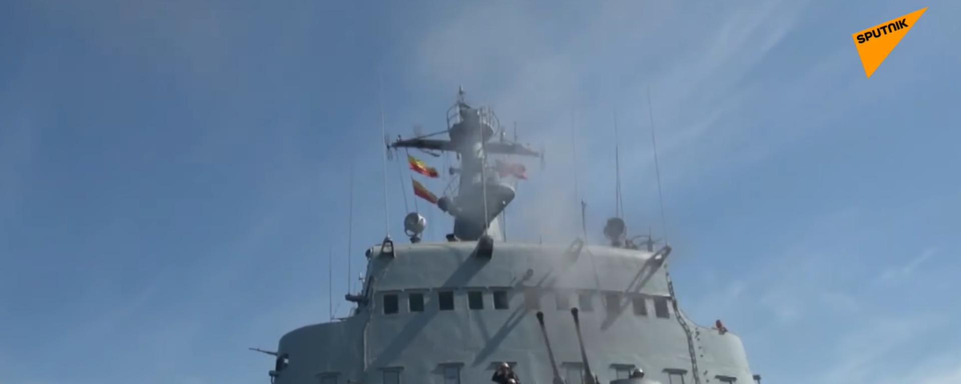 Esercitazioni di tiro con l'artiglieria per la Flotta russa del Mar Nero - Sputnik Italia, 1920, 02.07.2021
