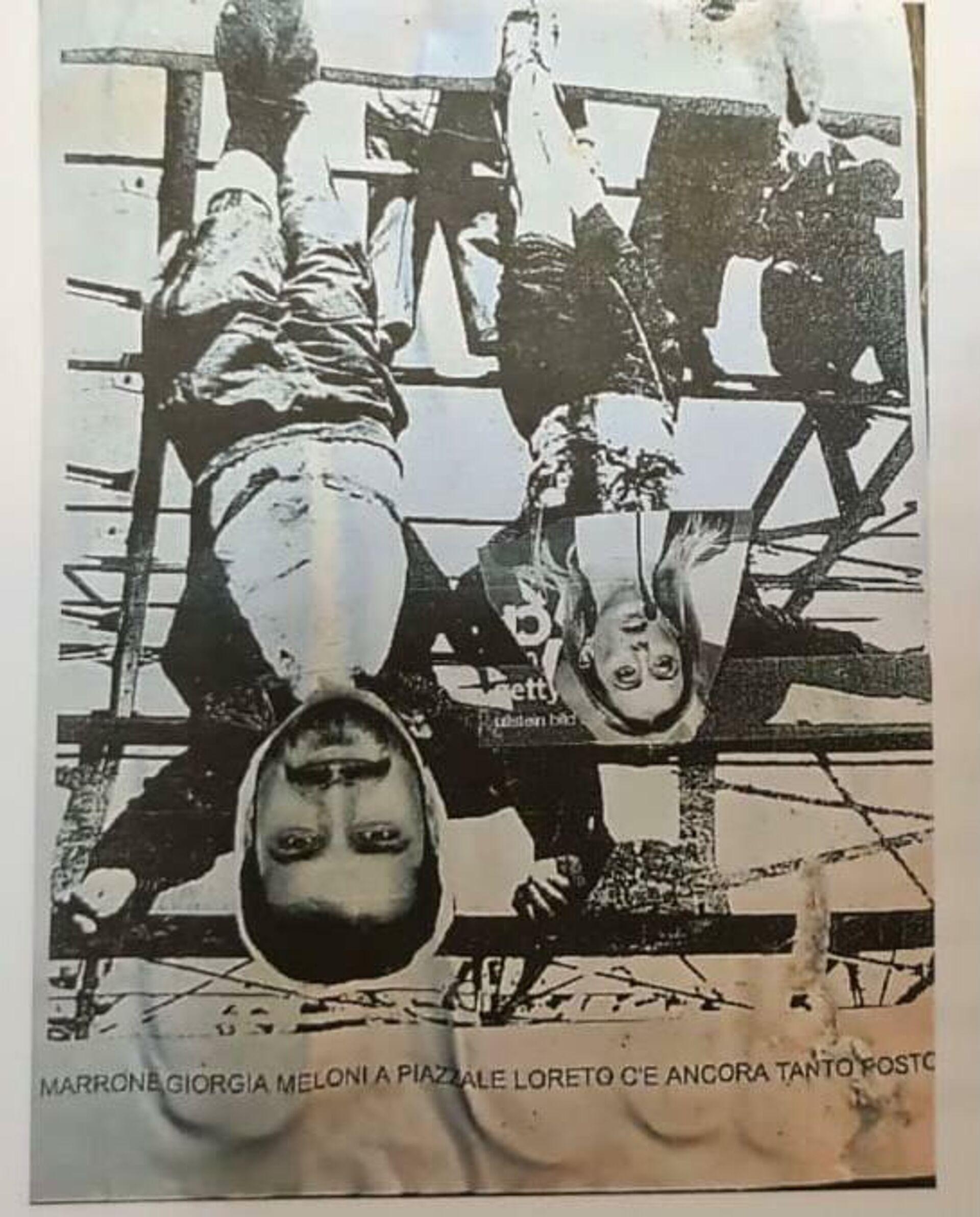 I manifesti provocatori affissi a Torino contro Marrone e Meloni - Sputnik Italia, 1920, 05.07.2021