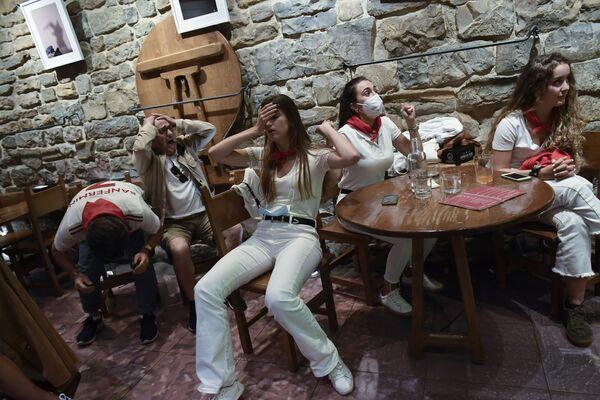 I tifosi spagnoli dopo il match tra Italia e Spagna, in cui gli Azzurri hanno vinto, 6 luglio. - Sputnik Italia