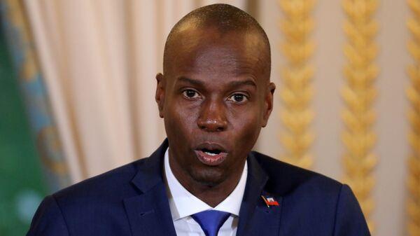 Президент Гаити Моис Жовенель выступает на пресс-конференции в Елисейском дворце в Париже, Франция - Sputnik Italia