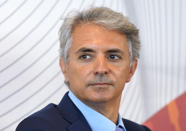 Giovanni Belli (Group ATP) alla fiera dell'innovazione e della tecnologia INNOPROM-2021 a Ekaterinburg, Russia. - Sputnik Italia