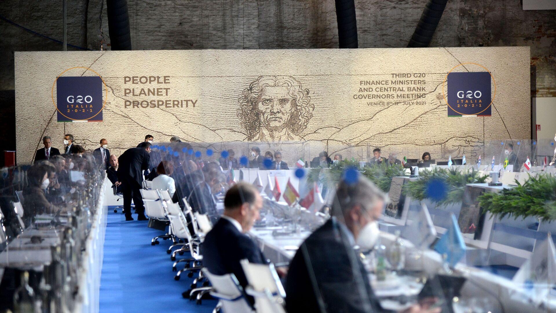 Intesa al G20 sulla global minimum tax - Sputnik Italia, 1920, 14.07.2021