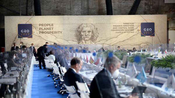 Вторая встреча министров финансов и управляющих центральных банков G20 под председательством Италии - Sputnik Italia