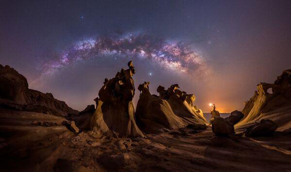 """La foto """"Amanti della notte"""" del fotografo Mohammad Hayati, che è diventata una delle vincitrici del concorso fotografico """"Milky Way Photographer of the Year"""", la foto scattata nella Provincia di Hormozgan, Golfo Persico, Iran - Sputnik Italia"""