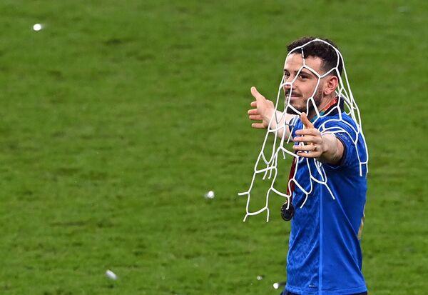 Davanti a 60mila spettatori di Wembley si è conclusa la finale di Euro 2020 tra l'Inghilterra di Gareth Southgate e gli Azzurri del ct Roberto Mancini. - Sputnik Italia