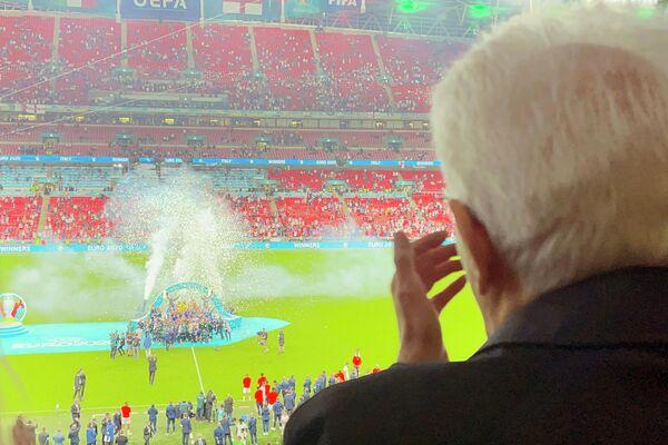 Il Presidente della Repubblica Sergio Mattarella alla finale degli Europei di calcio 2020. - Sputnik Italia