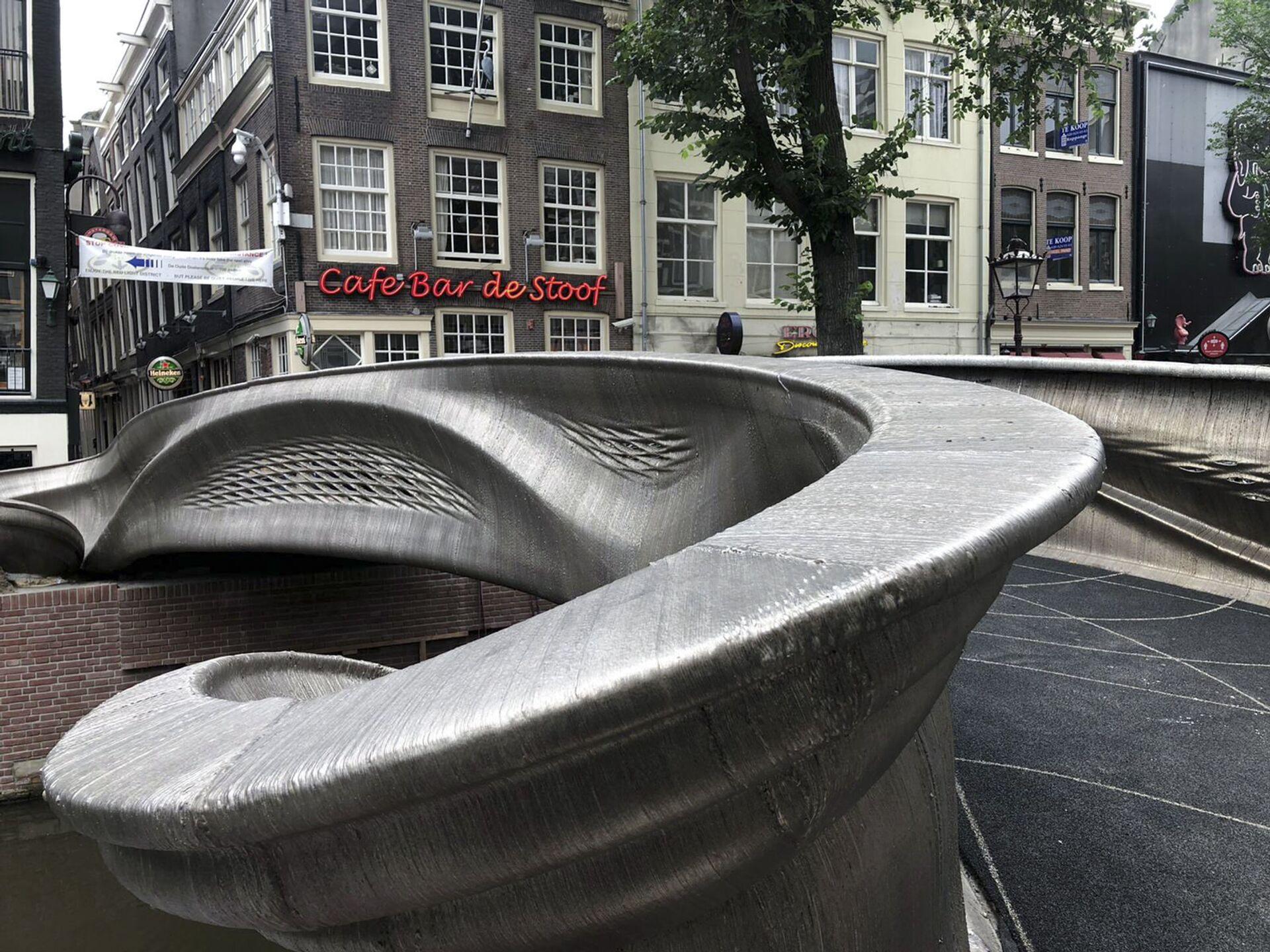 Amsterdam, inaugurato il primo ponte pedonale stampato in 3D - Sputnik Italia, 1920, 16.07.2021