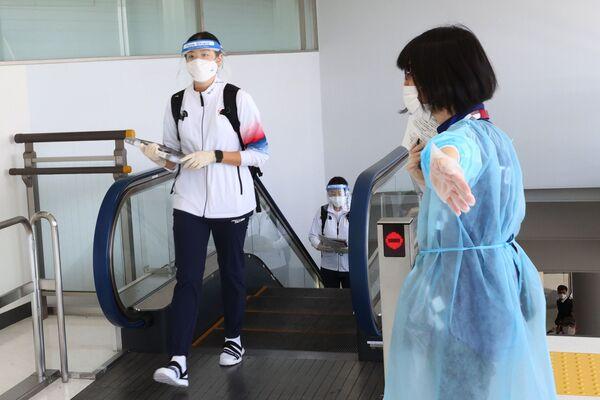 Ieri sono stati registrati 15 contagi da Covid a Tokyo tra le persone legate in vari modi ai Giochi, tra cui un caso segnalato all'interno del Villaggio Olimpico. - Sputnik Italia