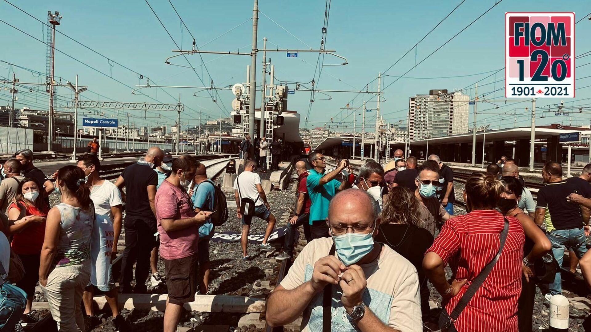 Protesta lavoratori Whirlpool Napoli - Sputnik Italia, 1920, 20.07.2021