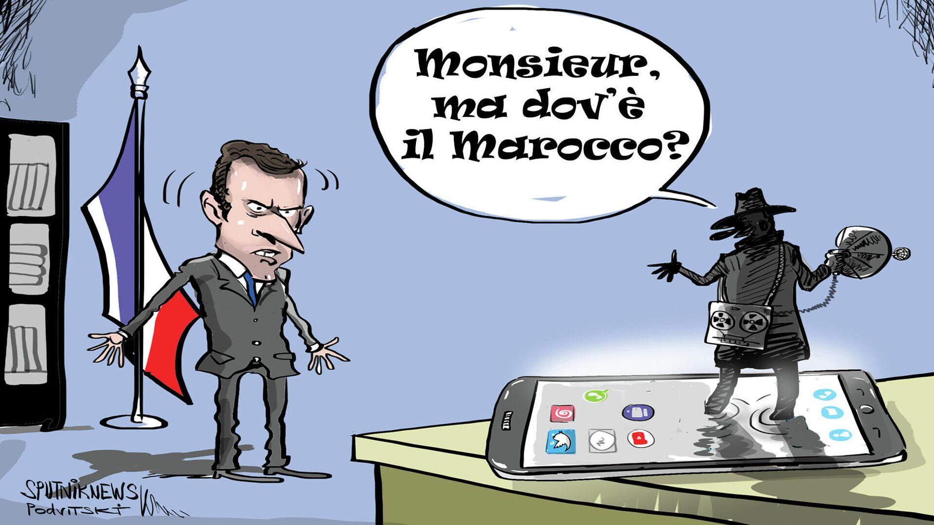 Microspia marocchina nel telefono di Macron - Sputnik Italia, 1920, 21.07.2021