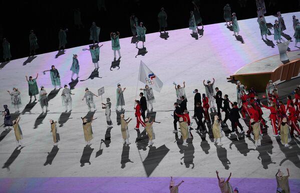 Gli atleti russi alla cerimonia inaugurale delle Olimpiadi di Tokyo. - Sputnik Italia