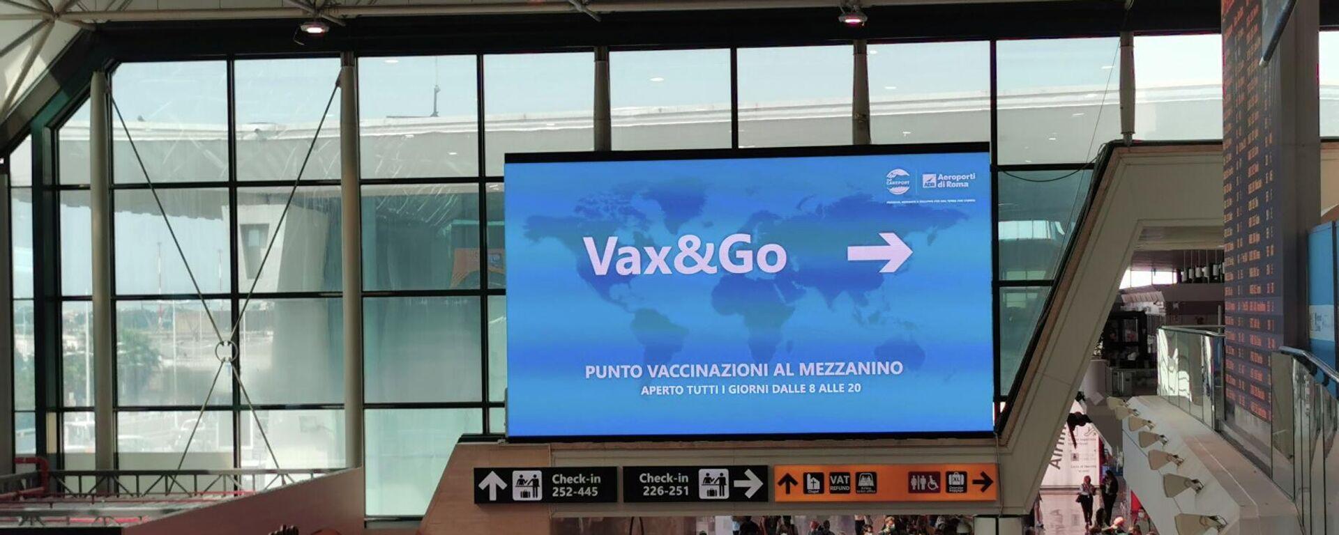 Centro Vax&Go all'aeroporto di Fiumicino - Sputnik Italia, 1920, 05.08.2021