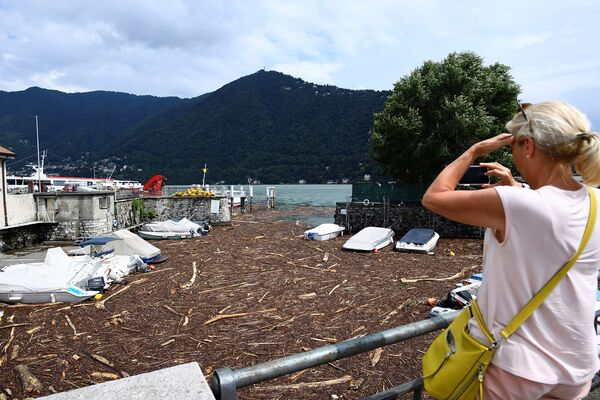 La Lombardia è la regione più colpita al nord per l'ondata di maltempo.  - Sputnik Italia