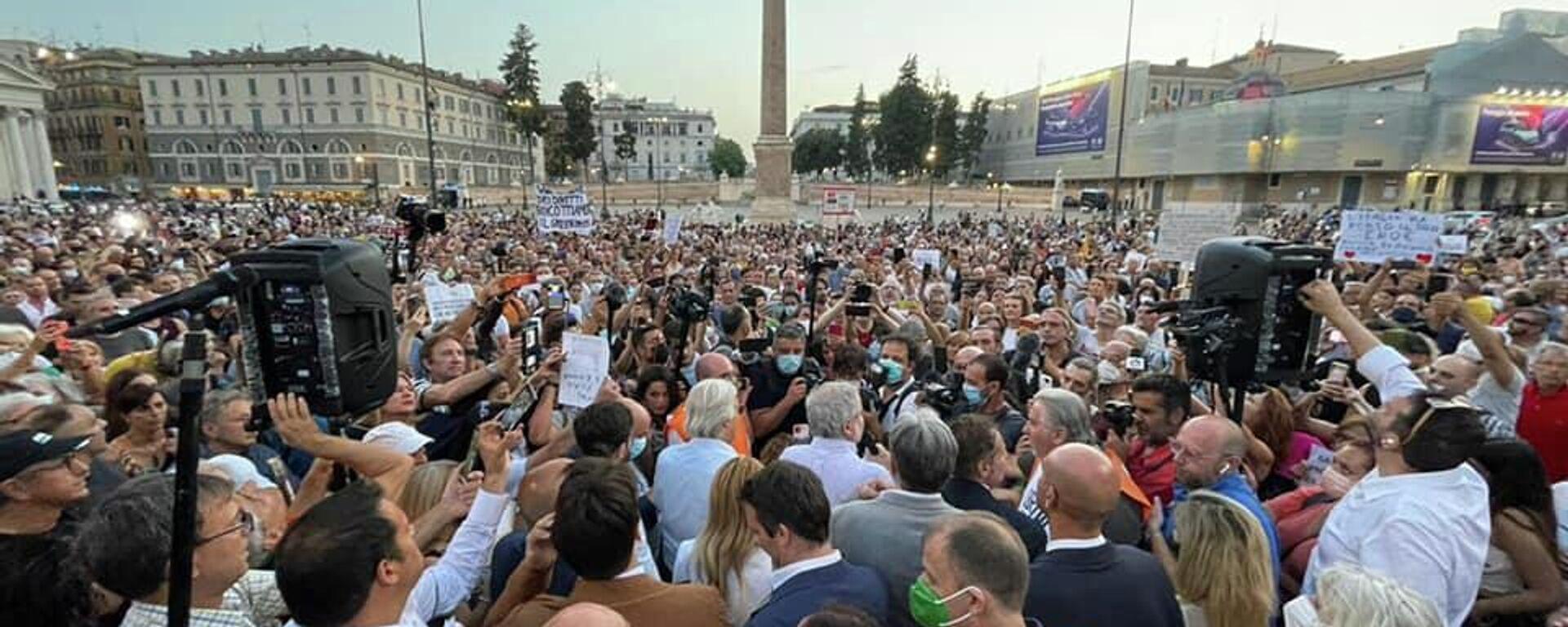 Comitato Libera Scelta, manifestazione del 28 luglio 2021 - Sputnik Italia, 1920, 28.07.2021