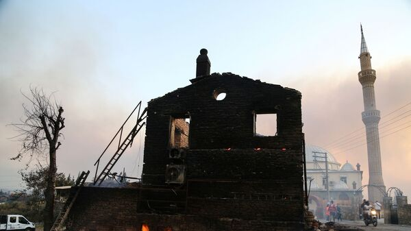 Сгоревший дом Манавгате, Турция - Sputnik Italia