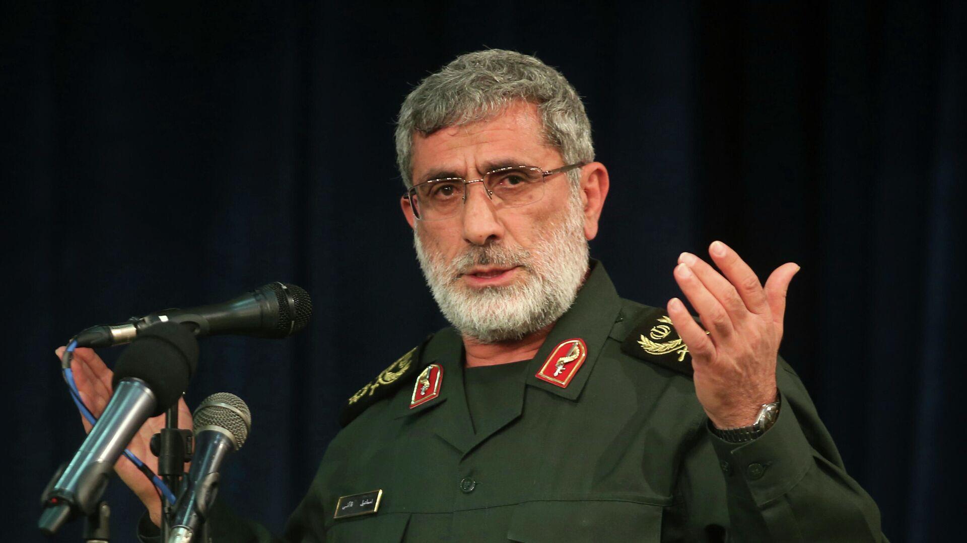 Il comandante delle forze speciali al-Quds Esmail Qaani - Sputnik Italia, 1920, 29.07.2021