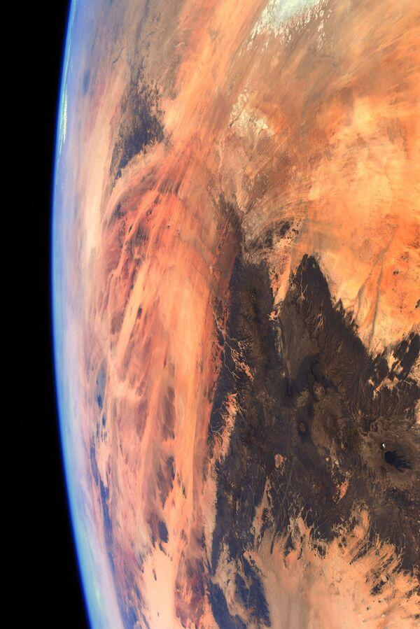 Secondo Pesce, questo è esattamente il modo in cui il rover Perseverance ha visto Marte quando si è preparato per l'atterraggio a febbraio. - Sputnik Italia