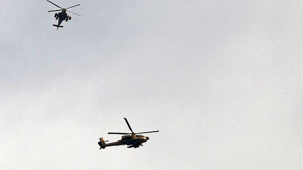 Вертолеты ВВС Израиля над Сектором Газа  - Sputnik Italia