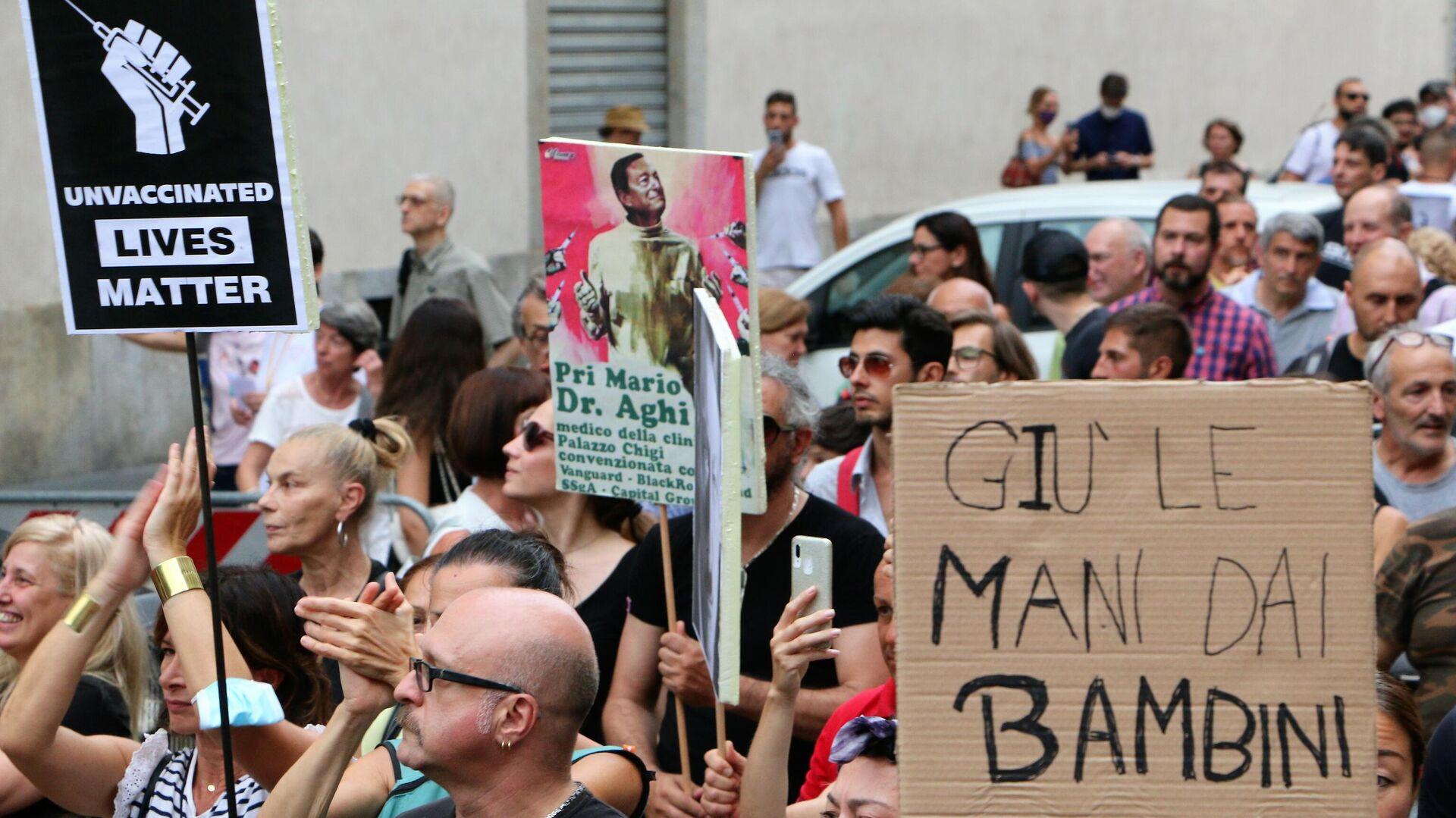 Manifestazione No Green Pass, Milano 31.07 - Sputnik Italia, 1920, 09.08.2021