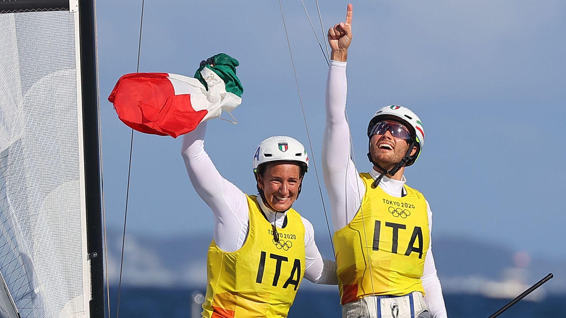 Ruggero Tita e Caterina Banti conquistano l'oro nella vela - Sputnik Italia, 1920, 03.08.2021