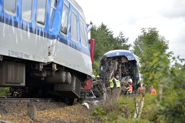 Nell'incidente sono stati coinvolti un treno internazionale ad alta velocità proveniente da Monaco di Baviera e un treno passeggeri locale.  - Sputnik Italia