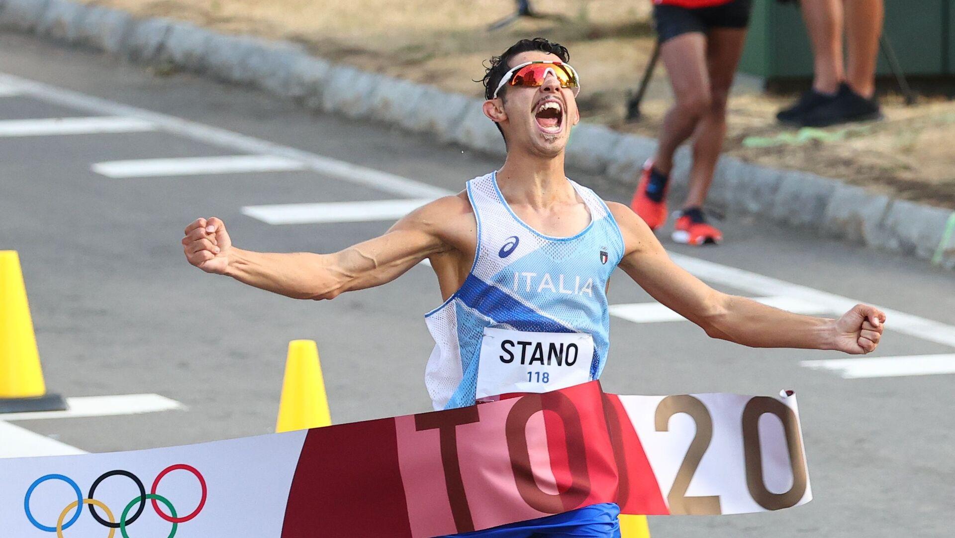 Massimo Stano vince oro nella 20 km di marcia - Sputnik Italia, 1920, 05.08.2021