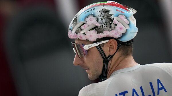 Итальянский велосипедист Elia Viviani на ОИ в Токио - Sputnik Italia