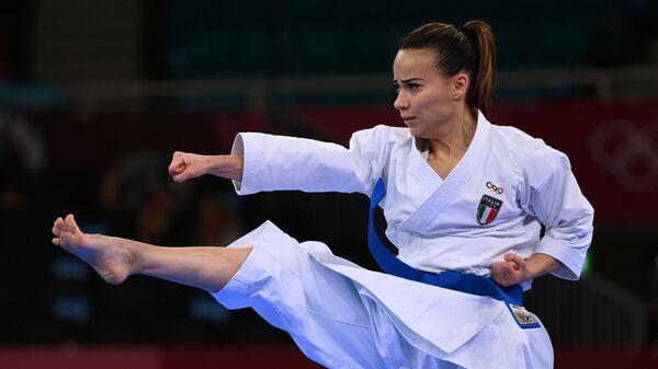 Итальянская каратистка Вивиана Боттаро на олимпиаде в Токио - Sputnik Italia