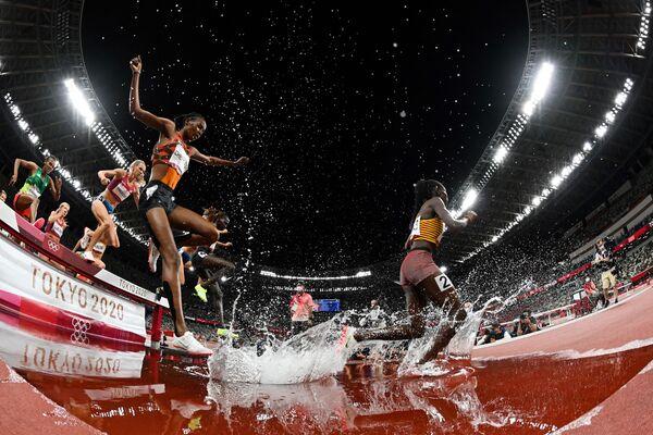 Atlete in competizione nella finale dei 3000 metri siepi femminili alle Olimpiadi di Tokyo il 4 agosto 2021. - Sputnik Italia