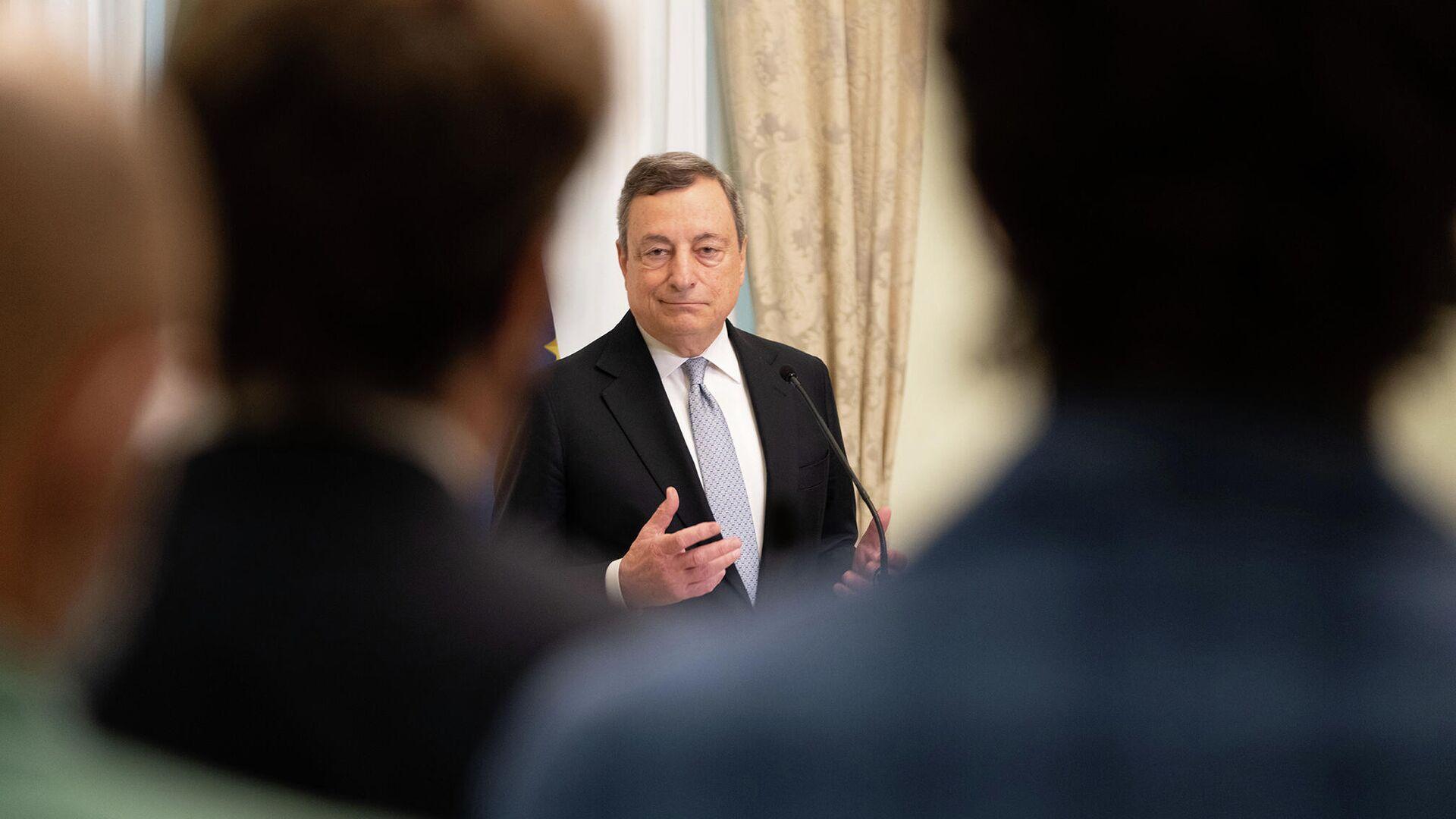 Il Premier Draghi incontra i giornalisti a Palazzo Chigi prima della pausa estiva - Sputnik Italia, 1920, 14.08.2021