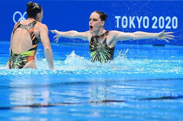 Il duo sudafricano Clarissa Johnston e Laura Strugnell ai Giochi Olimpici. - Sputnik Italia