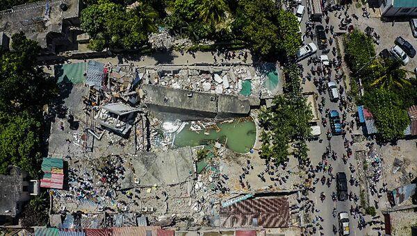Veduta area delle conseguenze del terremoto. - Sputnik Italia