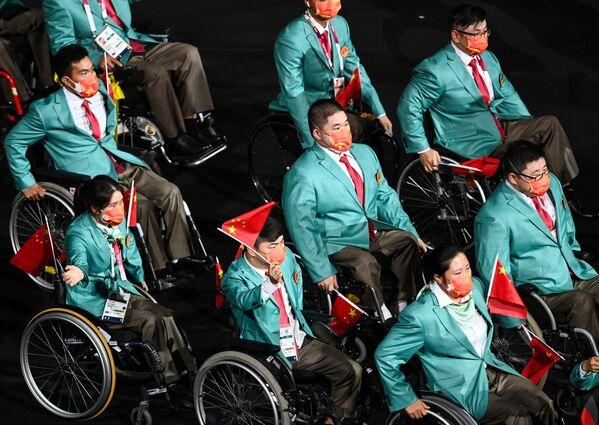 """""""We have the wings"""", il titolo della cerimonia, che allude alle ali che spingono al volo del sogno paralimpico gli atleti in gara. - Sputnik Italia"""