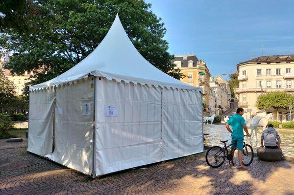 Le tende per il test su Covid in Germania - Sputnik Italia