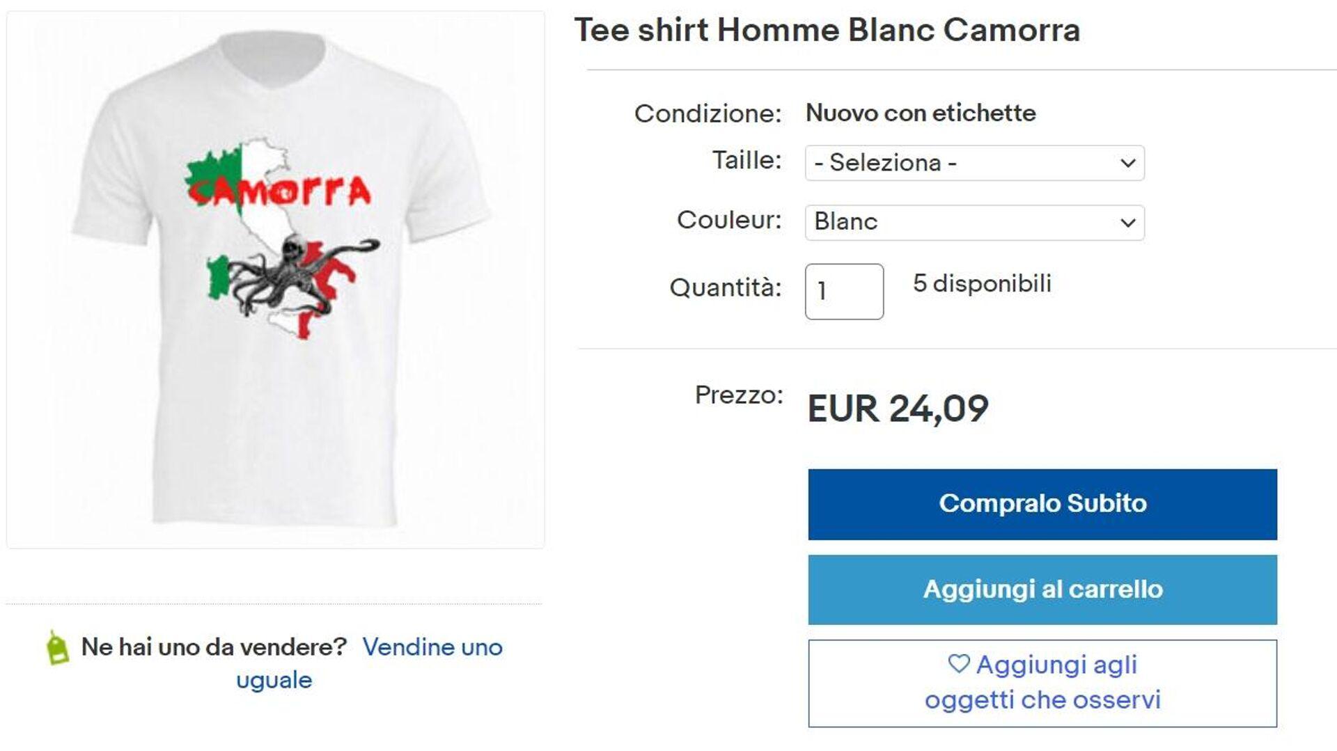 T-shirt camorra venduta su e-bay - Sputnik Italia, 1920, 27.08.2021