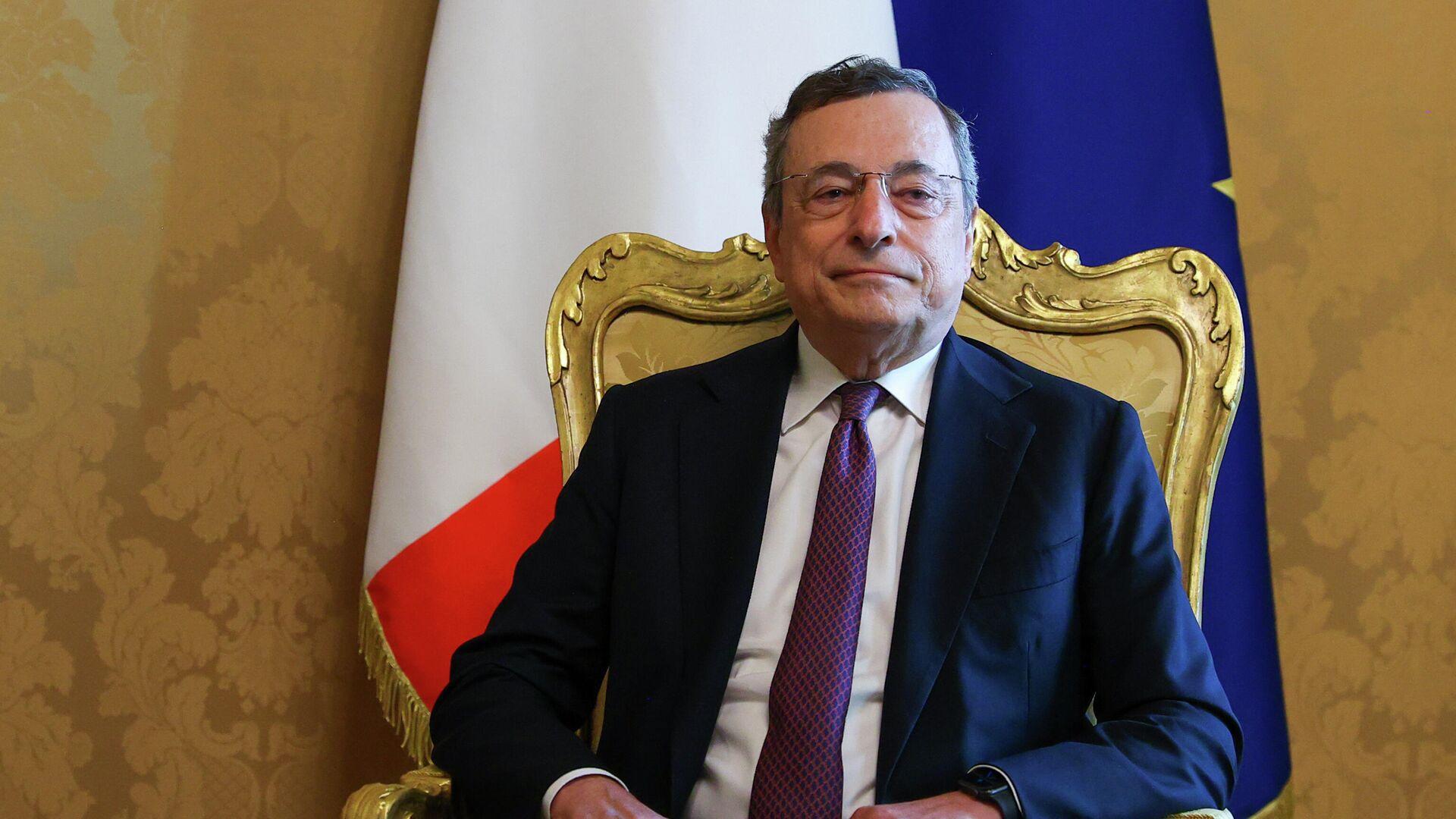 Il Presidente Mario Draghi ha incontrato il Ministro degli Affari Esteri della Federazione Russa, Sergey Lavrov, a Palazzo Chigi - Sputnik Italia, 1920, 12.09.2021