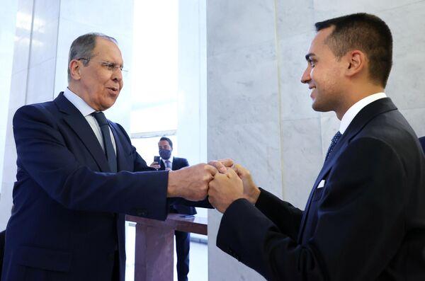 Alle 11:30 è iniziato l'incontro del Ministro Lavrov con il Ministro degli Affari Esteri, Luigi Di Maio. - Sputnik Italia